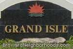 sign in front of Grand Isle in Coral Springs
