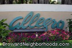 sign in front of Allegro at Sawgrass Mills in Sunrise